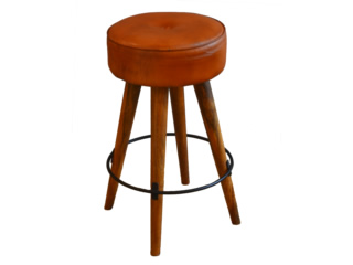 SF LEATHER HIGH STOOL-10