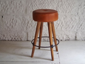 SF LEATHER HIGH STOOL-2