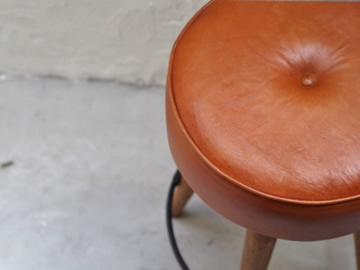 SF LEATHER HIGH STOOL-3