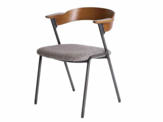 danis short arm chair brown